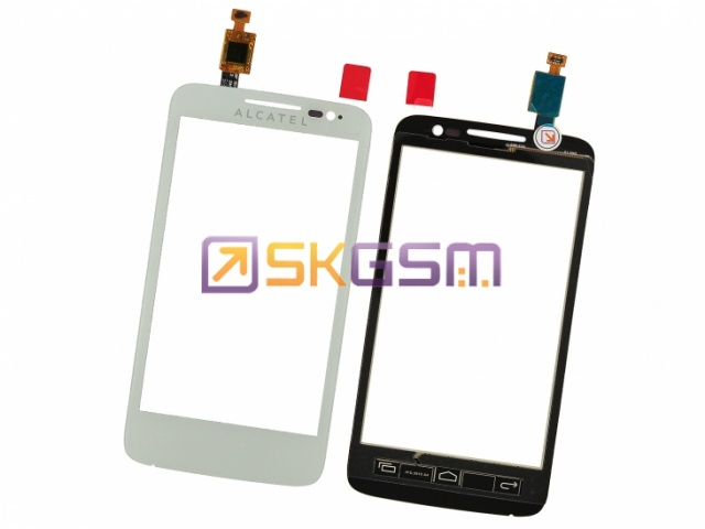 Alcatel OneTouch M'POP 5020D/МТС 972 - Сенсорная панель (touch/panel) (цвет:White), Оригинал