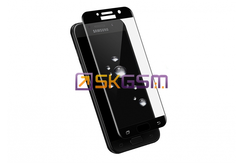 5D Glass Tempered 0.22mm - Samsung SM-A320F Galaxy A3 2017 (цвет:Black) (в тех.упаковке)