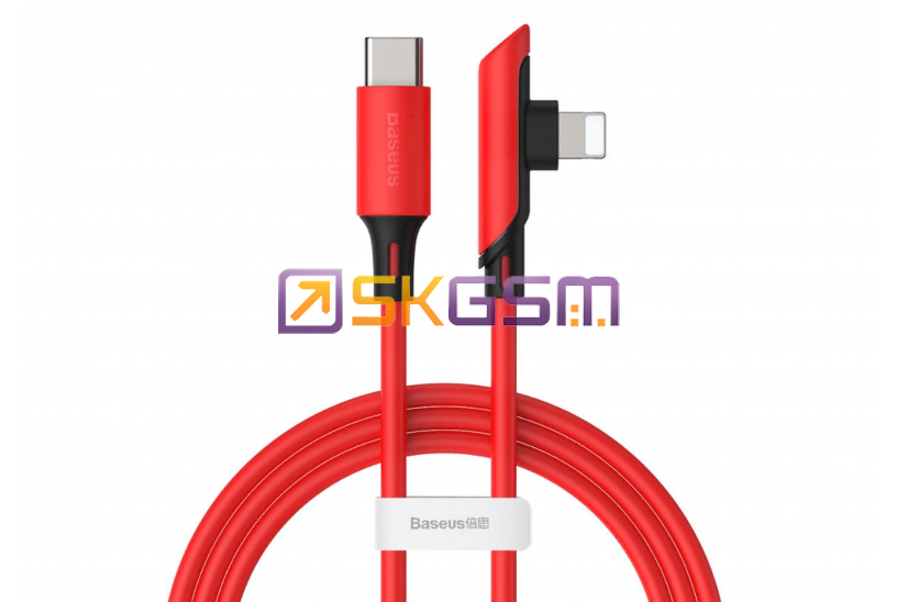 BASEUS Colorful Elbow - Кабель Type-C to iP Cable PD 18W 1.2m, Оригинал (цвет:Red)