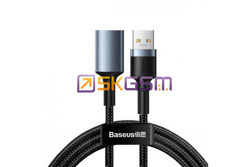 BASEUS cafule Cable USB3.0 Male to USB3.0 Female 2A 1m, Оригинал (цвет:Dark Gray)