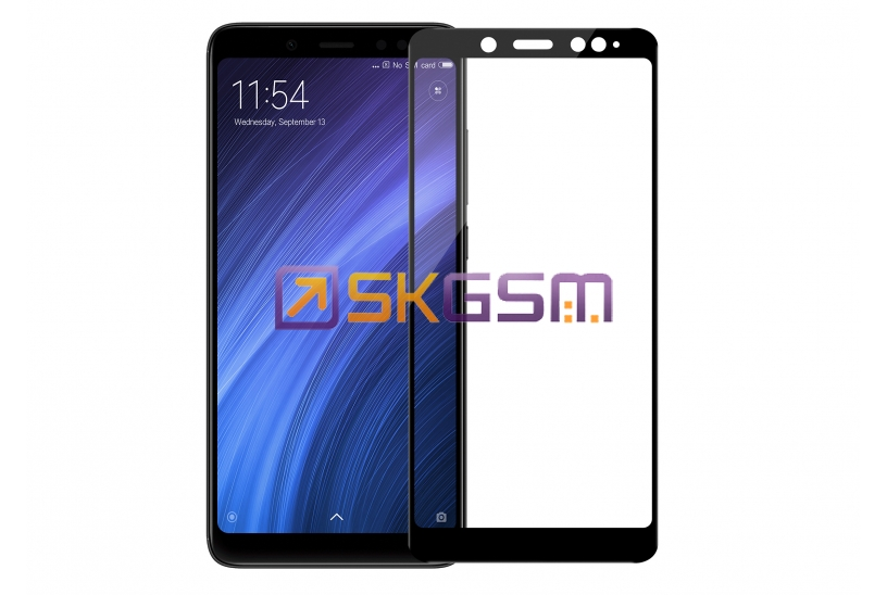 5D Glass Tempered 0.22mm - Xiaomi Redmi Note 5/Redmi Note 5 Pro (цвет:Black) (в тех.упаковке)