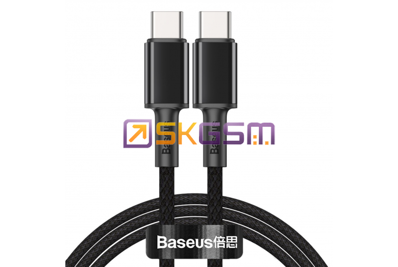 Baseus High Density Braided Fast Charging - Type-C to Type-C 100W дата кабель (цвет: Black), Оригинал