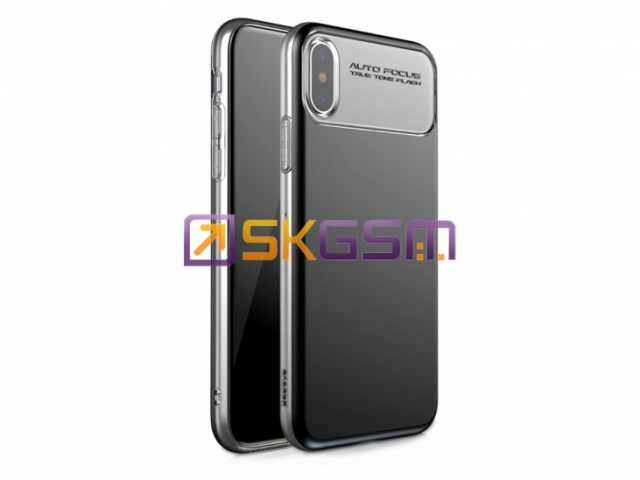 Baseus Slim Lotus Case - Чехол iPhone X (материал:пластик с мягкими краями), Оригинал (цвет:Black)